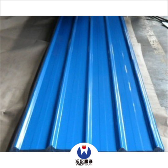 Corrugated Prepainted Steel Building Material Color Roofing Sheet