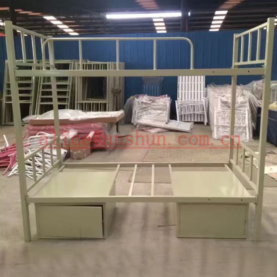 China Luoyang Cheap Adult Bunk Beds Furniture Metal Frame Bunk Beds