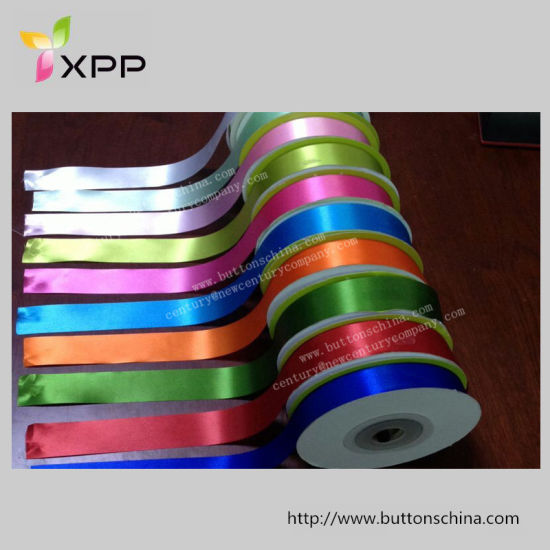 China Slit Edge Satin Ribbon Cutting Tape For Label And Sewing Edge