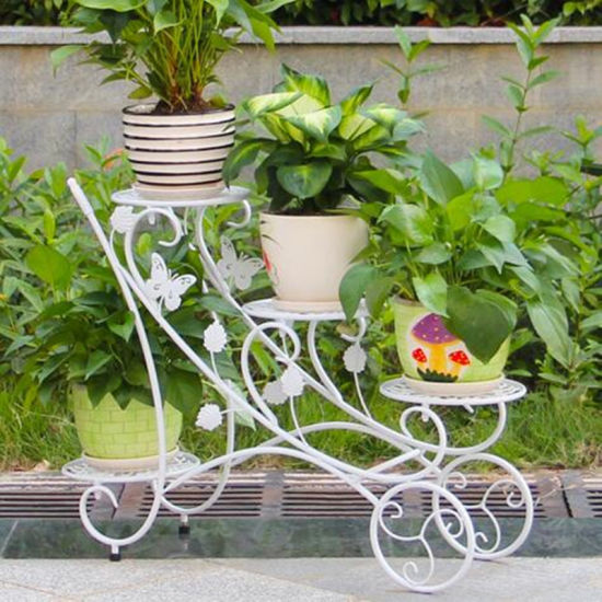 Wrought Iron Planter Stand For Outdoor Decoration