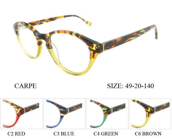 China Latest New Design Acetate Eyeglass Optical Eyewear Optical ...