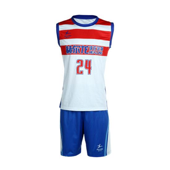 e193fd12907 Custom Sport Wear Sublimation Basketball Jersey Wholesale Stripe Basketball  Uniform pictures   photos