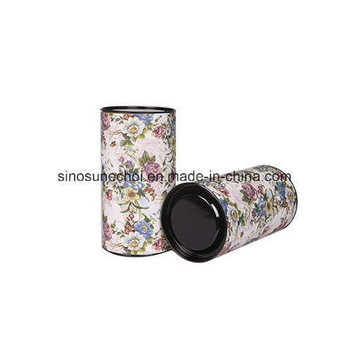 Customized Paper Board Round Cylinder Gify Box with Tin Cover pictures & photos