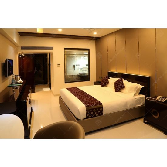 3 Star India Hotel Project Furniture Design Custom Made Bed Room Bedroom Set