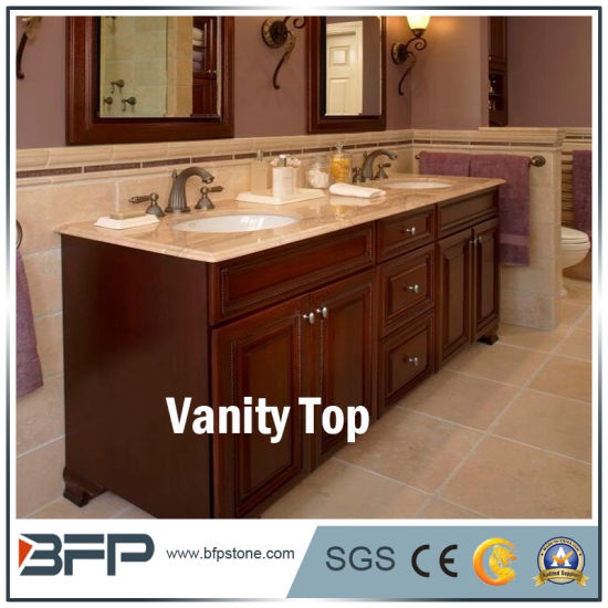 Polished Wood-Grain White Marble for Bathroom Vanity Top pictures & photos