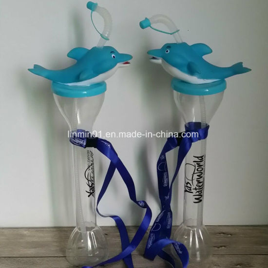 Customized Cartoon Plastic Party Yard Drinking Cup for Promotional Gift