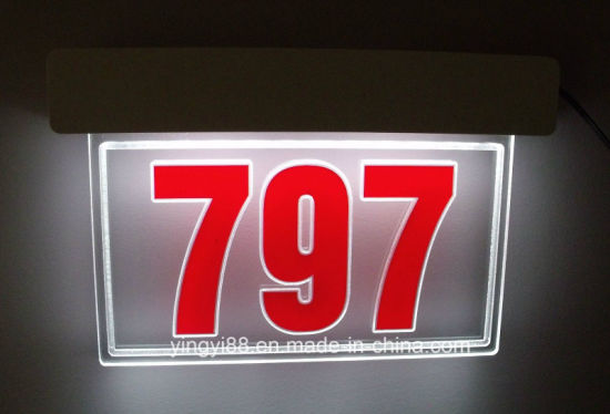 2018 New Design LED Lighted Address Sign pictures & photos