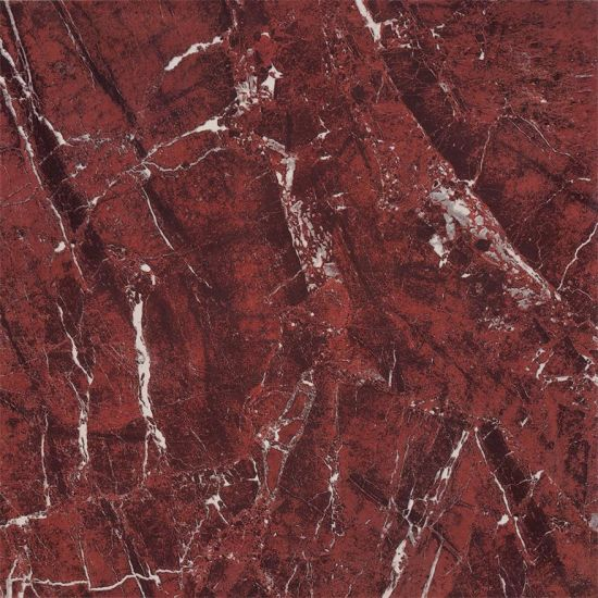 China Polished Glazed Porcelain Tile Red Color China Glazed