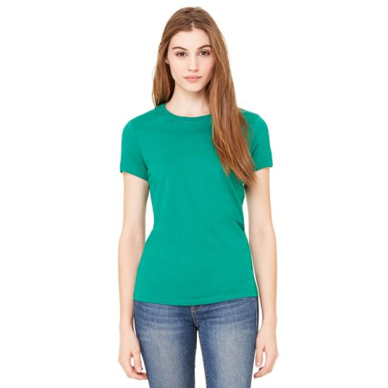Pure Cotton Women's Basic T-Shirt with Custom Logo