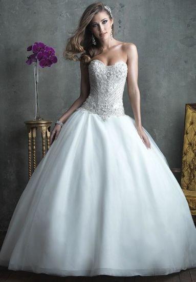 China Stunning Beaded Bodice Princess Wedding Dress (Dream-100030 ...