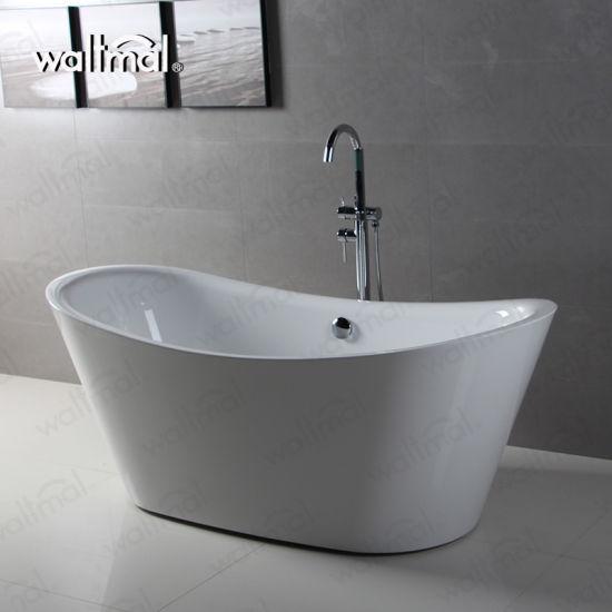 Double Slipper Two Upper End Freestanding Soaking New Bath Tub