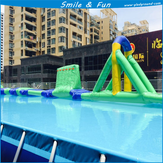 China Metal Frame Stainless Steel Above Ground Pools for Water Park ...