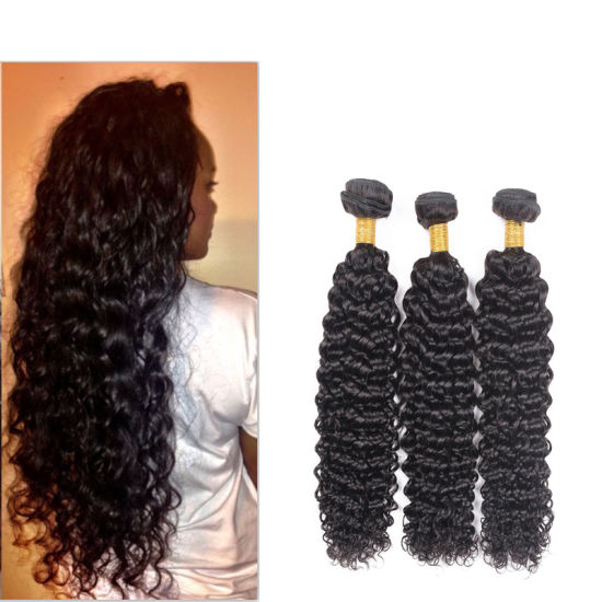 Brazilian Hair Kinkly Curly Hair Extension Virgin Hair Unprocessed Human Hair pictures & photos