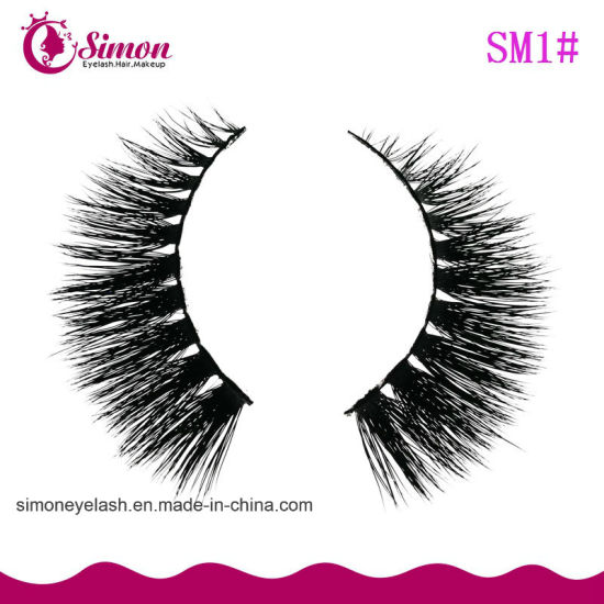 Daily Use Real Siberian Mink Fur Strip Lashes False Eyelash pictures & photos