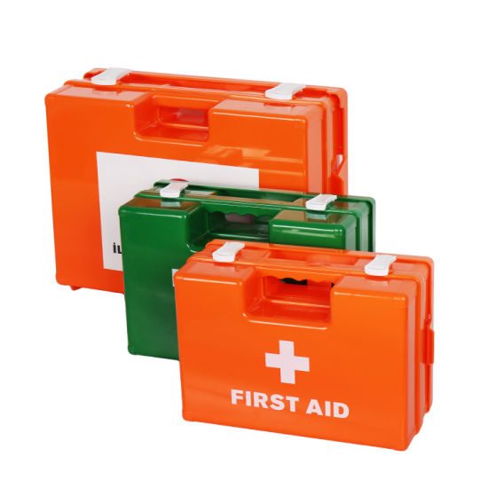 Office Wall Mount First Aid Box ABS Strong Plastic Medical Case Storage First Aid Kit
