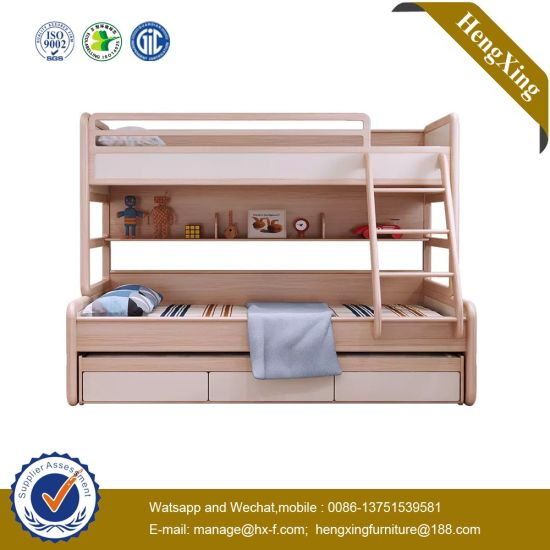 Best Sell School Children Bedroom Furniture MDF MFC Bunk Kids Bed UL-9be063