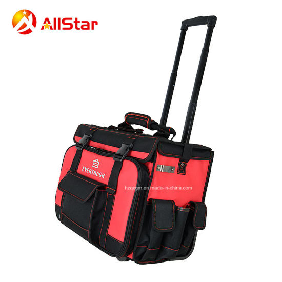 Best Quality Multifunction Tool Bag Trolley Rolling Bag with Tension Bar and Wheels