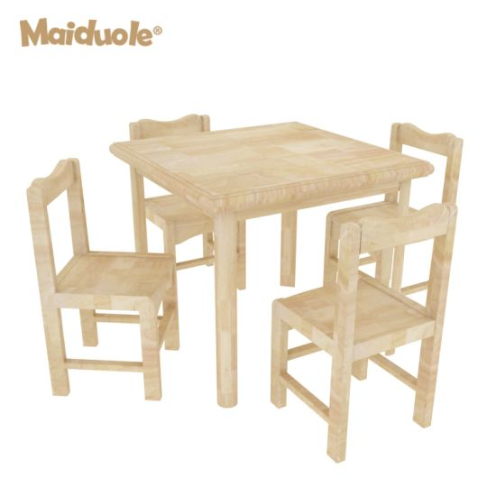 Wooden Kindergarten Table and Chair Child Furniture