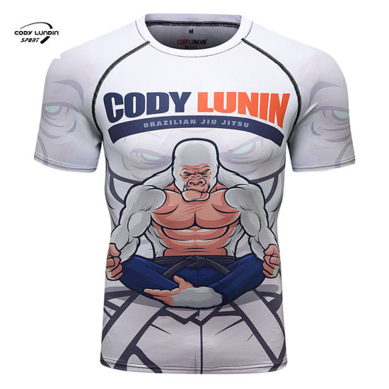 Cody Lundin Sportswear China Supplier Eco-Friendly, Strong Stretch Sublimation T Shirt with Digital Printing Man Shirts for Running