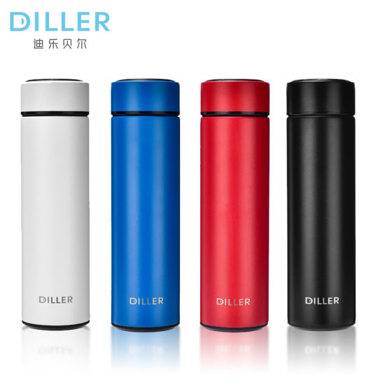 500ml Thermal Bottle Vacuum Flask Water with Straw