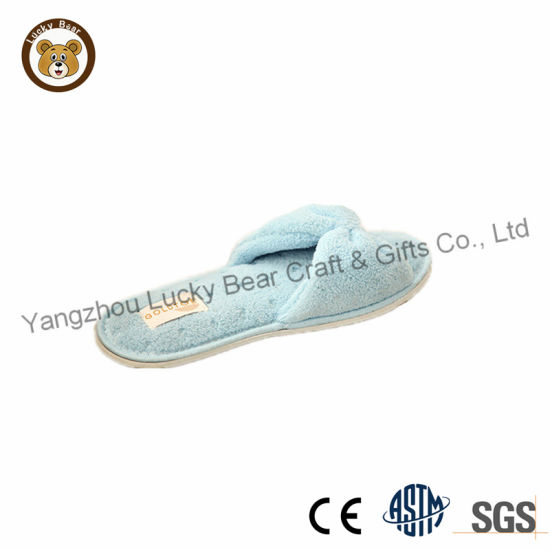 China Beautiful Baby Blue Girls Bedroom Slipper Shoes ...