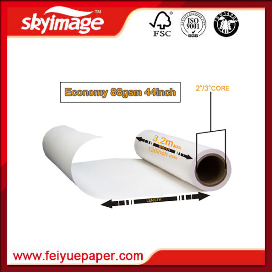 110cm 88GSM Dye Sublimation Paper Chinese Manufacturer Economy for High Speed Printing pictures & photos