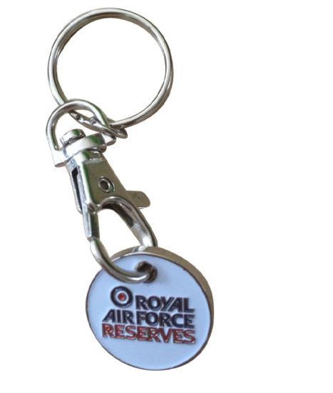 Custom Logo Trolley Coin Keychain for Market Souvenirs (YB-LY-K-14)