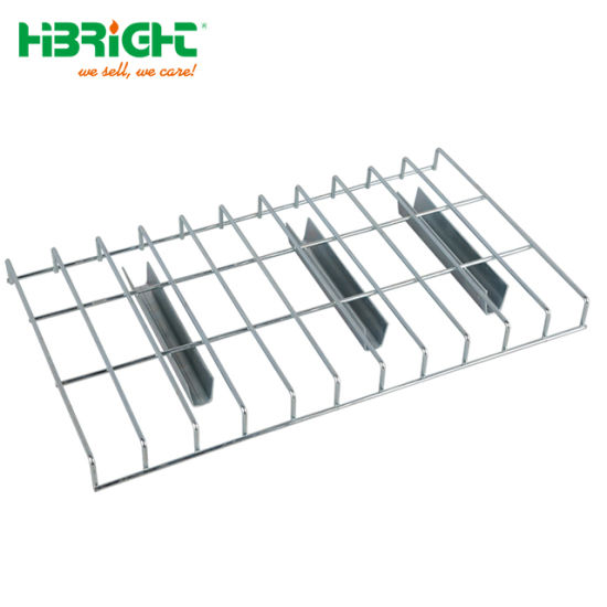 Industrial Galvanized Pallet Rack Steel Wire Mesh Deck Shelving for Heavy Duty Teardrop Rackings pictures & photos