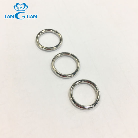 Small Metal O Ring Green Nickel Color for Bag Accessories