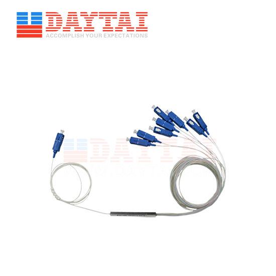 1X8 Mini Type Optical Fiber PLC Splitter with Sc/Upc