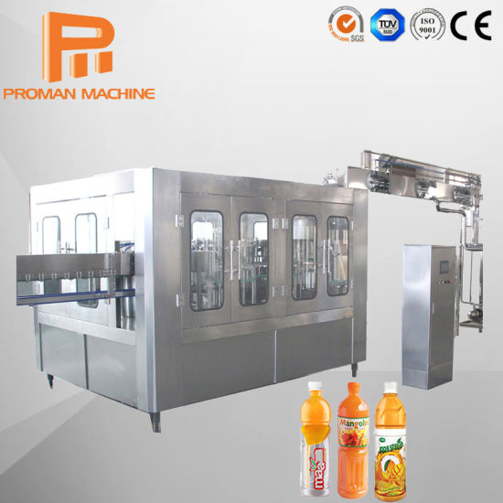 Automatic Glass Bottle Juice Filling Machine for Mini Juice Plant with Stainless Steel Conveyor