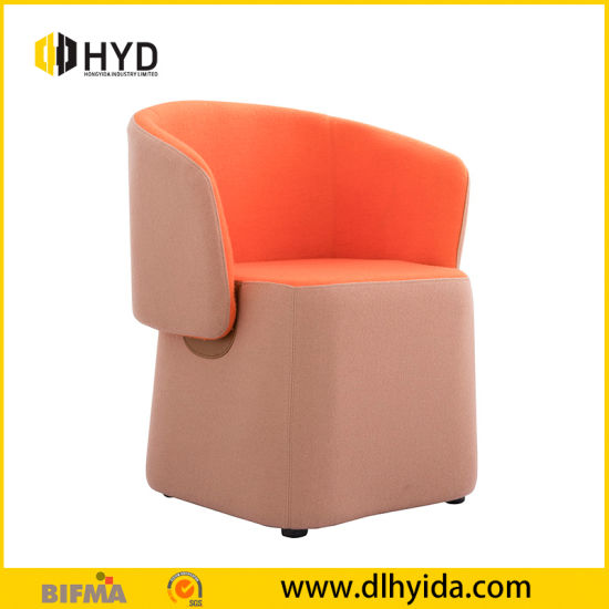 Wholesale Popular New Style Colorful White Leather Leisure Luxury Office Sofa Egg Chair with Padded Seats