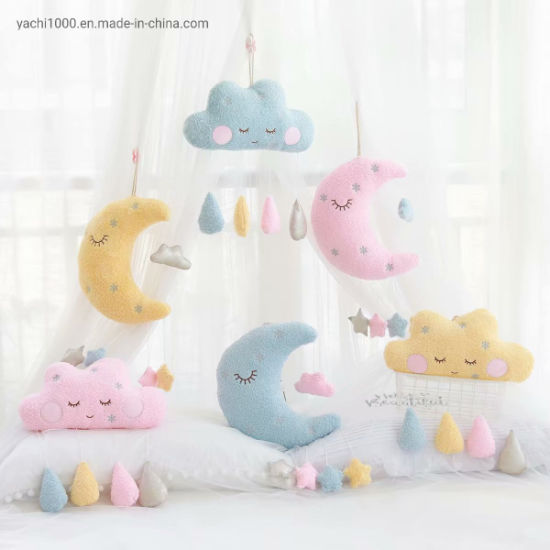 Moon Cloud Play Hanging Decoration Soft Baby Hanging Plush Toy Kids Stuffed Toys