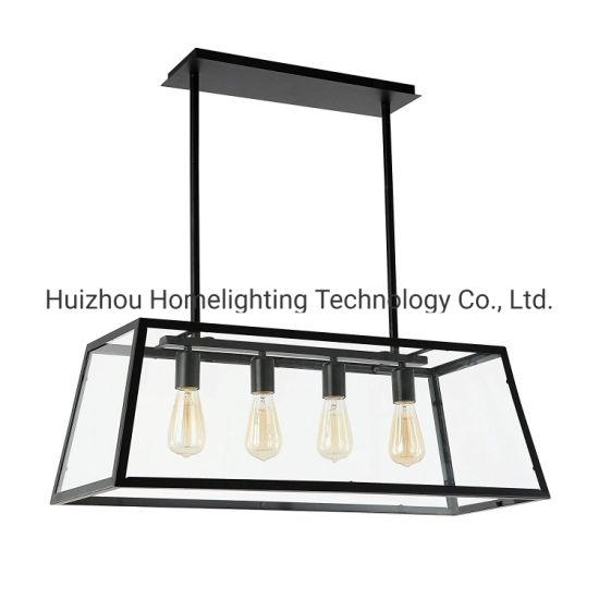 Jlc-6021 Industrial Loft Retro 4-Light Chandelier Pendant Hanging Lamp
