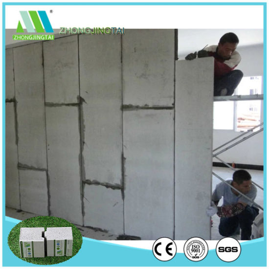 China Zjt Light Weight Fiber Cement Eps Sandwich Wall Panel For Interior Exterior Partition