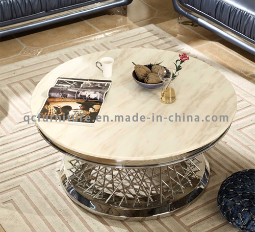 Rose Gold Colour Stainless Steel Coffee Table pictures & photos