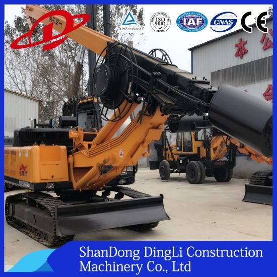 Small Hydraulic Mud Bucket Friction Rod Rotary Excavating Pilling Rig for Ce with Cummins Engine pictures & photos