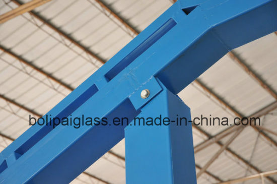 Powder Coated Surface 12mm Tempered Glass Backboard Movable Basketball Stand pictures & photos