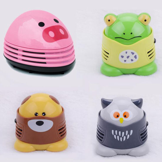 Mini Cute Cartoon Shaped Mini Corner Desk Vacuum Cleaner Desk Dust Cleaner  Mini Table Vacuum Cleaner