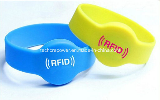 13.56MHz Waterproof Silicone RFID Wristband Bracelet pictures & photos