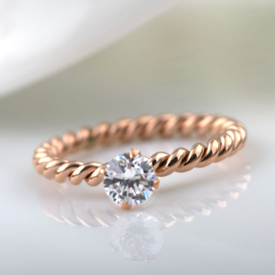 df17d516d6 Fashion Accessories Couples Jewelry Weaved Rose Gold Diamond Ring pictures  & photos