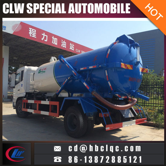 4X2 8000L 10000L Vacuum Tank Vehicle Sewer Sucking Tank Truck pictures & photos