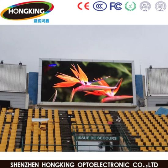 Big TV Advertising Screen LED Billboard P10 with Iron Cabinet Fixed Installation pictures & photos