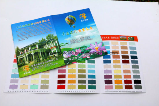 Colorful Customized Paint System Color Card Catalog