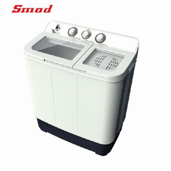 Smad Half Automatic Half Hand Clothes Washer Twin Tub Washing Machine