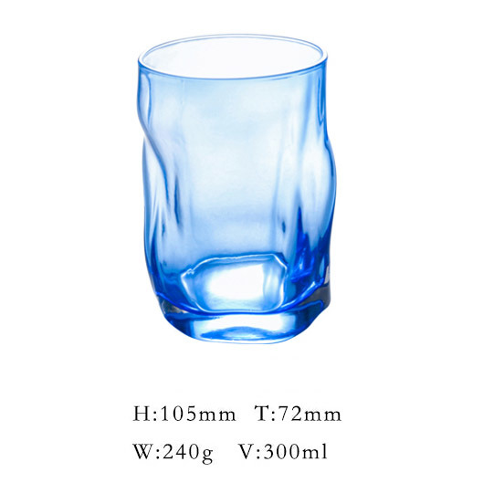 Gold Color Drinking Glass Cup in Irregular Shape