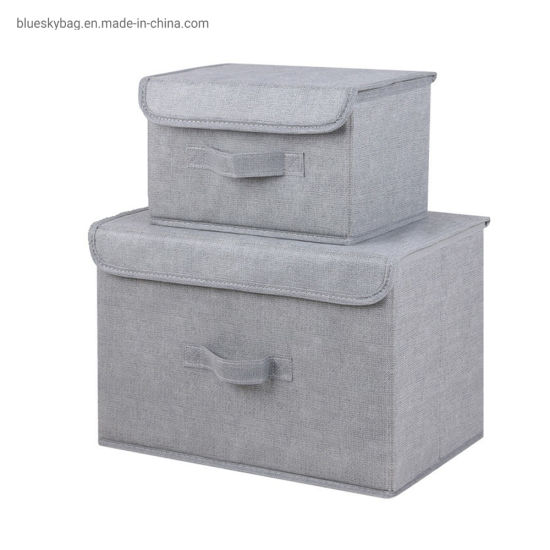 China Non Woven Quilt Storage Bin For Bedroom With Lid