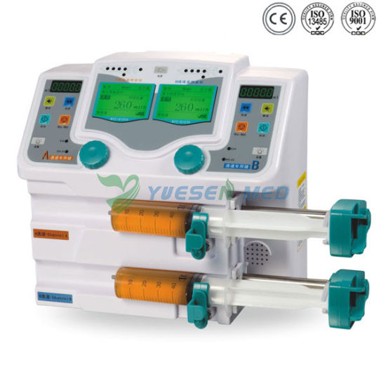 Medical Portable Electric Yszs-810tu Double Channel Pump Syringe pictures & photos