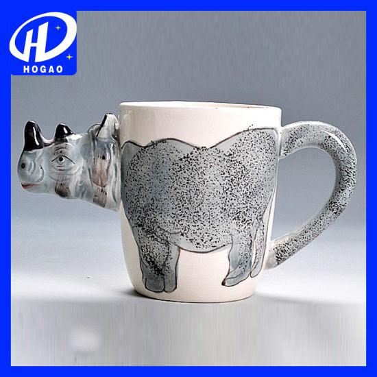 Hand-Painted 3D Animal Frog Cartoon Handle Mug Cup Milk Tea Ceramic Coffee Mug