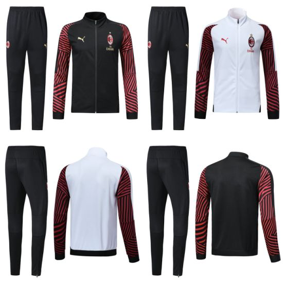 buy popular 65e1d 7759f Customized AC Milan Soccer Long Sleeve Tracksuit Sweatshirt Training Suits